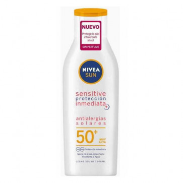 Nivea SUN ANTIALERGIAS SOLARES Sensitive SPF50+ Leche 200 ml