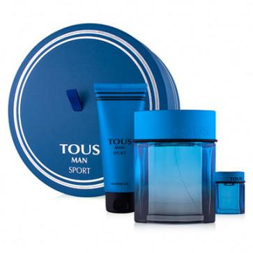 Tous Lote TOUS MAN SPORT Eau de toilette Vaporizador 100 ml + Gel 100 ml + Mini 4.5 ml