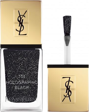Yves Saint Laurent LA LAQUE COUTURE 104 Holographic Black