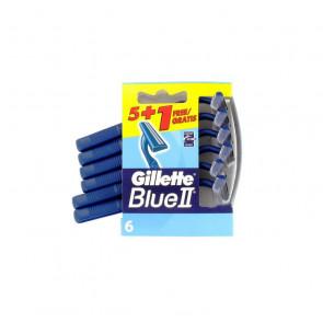 Gillette BLUE II Cuchilla de Afeitar Desechable 6 u