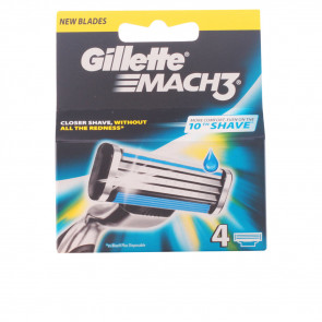 Gillette MACH 3 Cuchillas de Recambio 4 u New Blades