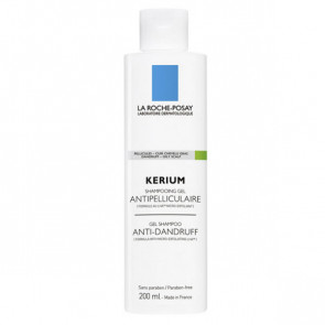 La Roche-Posay KERIUM Shampooing Gel Antipelliculaire Micro-Exfoliant 200 ml