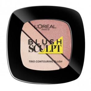 L'Oréal Ifalible Blush Sculpt Trio - 101 Soft sand