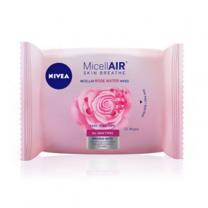 Nivea Micell-Air Rose Water Toallitas desmaquilladoras 20 ud