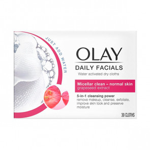 Olay Cleanse Water Actived dry cloths Normal skin Toallitas desmaquillantes 30 ud