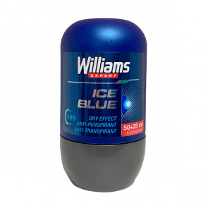 Williams ICE BLUE Desodorante roll-on 75 ml