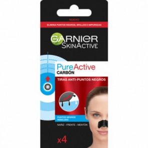 Garnier Skinactive Pure Active Tiras anti-puntos negros 4 ud