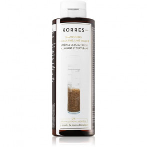 Korres Champu de Proteína de Arroz y tilo para Cabello Fino 250 ml
