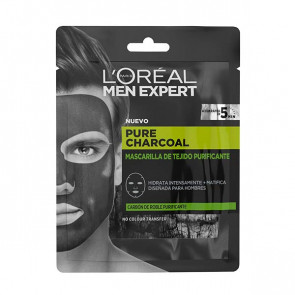 L'Oréal Men Expert Pure Charcoal Purifying Tissue Mask 1 ud