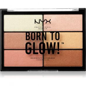 NYX BORN TO GLOW! Paleta de maquillaje iluminadora
