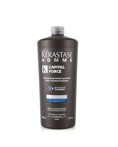 Kérastase HOMME CAPITAL FORCE Anti-dandruff Shampoo 1000 ml