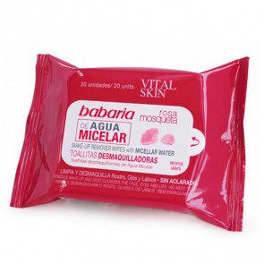 Babaria ROSA MOSQUETA Make Up Remover Wipes with Micellar Water