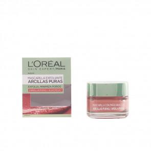 L'Oréal ARCILLAS PURAS Mascarilla exfoliante con algas rojas 50 ml