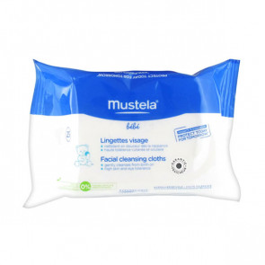Mustela BEBE Facial cleansing cloths 25 Units