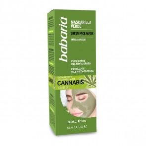 Babaria Mascarilla Verde con aceite de semilla de cannabis 100 ml