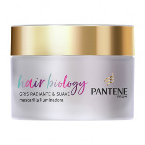 Pantene Hair Biology Gris Radiante & Suave Mascarilla 160 ml