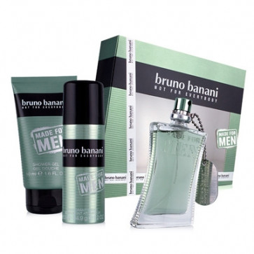 Bruno Banani Lote MADE FOR MEN Eau de toilette Vaporizador 30 ml + Gel de ducha 50 ml + Desodorante Vaporizador 50 ml