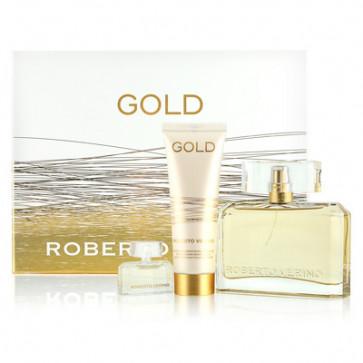 Roberto Verino Lote GOLD Eau de parfum Vaporizador 90 ml + Loción corporal 50 ml + mini 4,5 ml