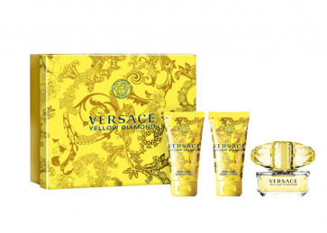 Versace Lote YELLOW DIAMOND Eau de toilette Vaporizador 50 ml + Loción corporal 50 ml + Gel 50 ml