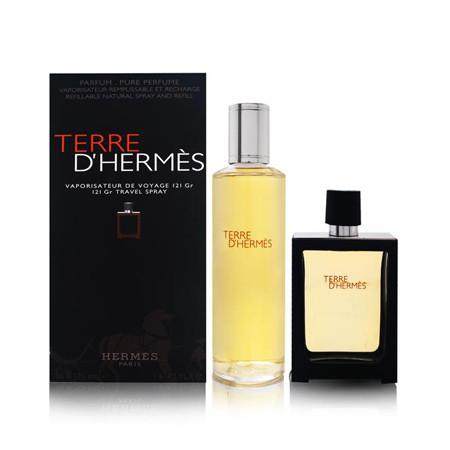 Hermès Coffret TERRE D'HERMÈS Eau de parfum Vaporisateur 30 ml + Eau de parfum Recharge 125 ml