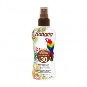 Babaria Tropical Sun Aceite Protector SPF30 100 ml