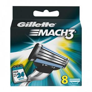 Gillette MACH 3 Cuchillas de Recambio 8 u