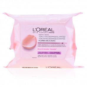 L'Oréal Flores Delicadas Toallitas desmaquillantes Piel sensible 25 ud