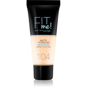 Maybelline Fit Me Matte+Poreless Foundation - 104 Soft ivory 30 ml