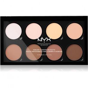 NYX HIGHLIGHT & CONTOUR PRO Paleta de maquillaje iluminadora