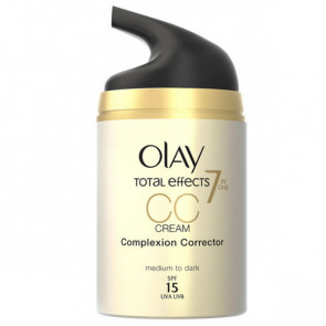 Olay CC Cream Anti Ageing Moisturiser SPF15 Medium-Dark 50 ml