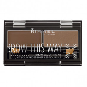 Rimmel BROW THIS WAY eyebrow sculpting kit 003 Dark Brown