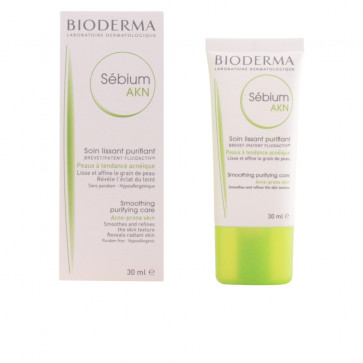 Bioderma SEBIUM AKN Soin lissant purifiant Peaux à tendance acnéique 30 ml