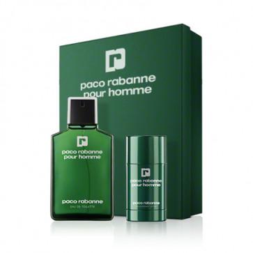 Paco Rabanne Lote POUR HOMME  Eau de toilette Vaporizador 100 ml + Desodorante en barra 70 ml