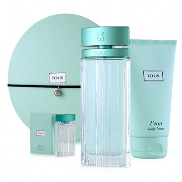 Tous Lote L'EAU Eau de toilette Vaporizador 90 ml + Loción Corporal 150 ml + Mini 4 ml