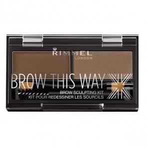 Rimmel BROW THIS WAY eyebrow sculpting kit 003 Dark Brown