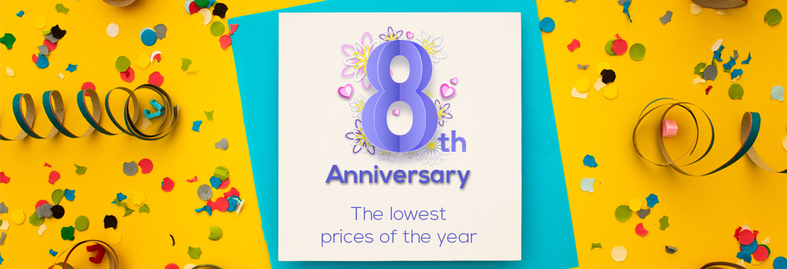 8th Anniversary with special prices